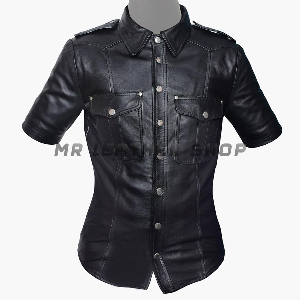 Black Leather Shirts