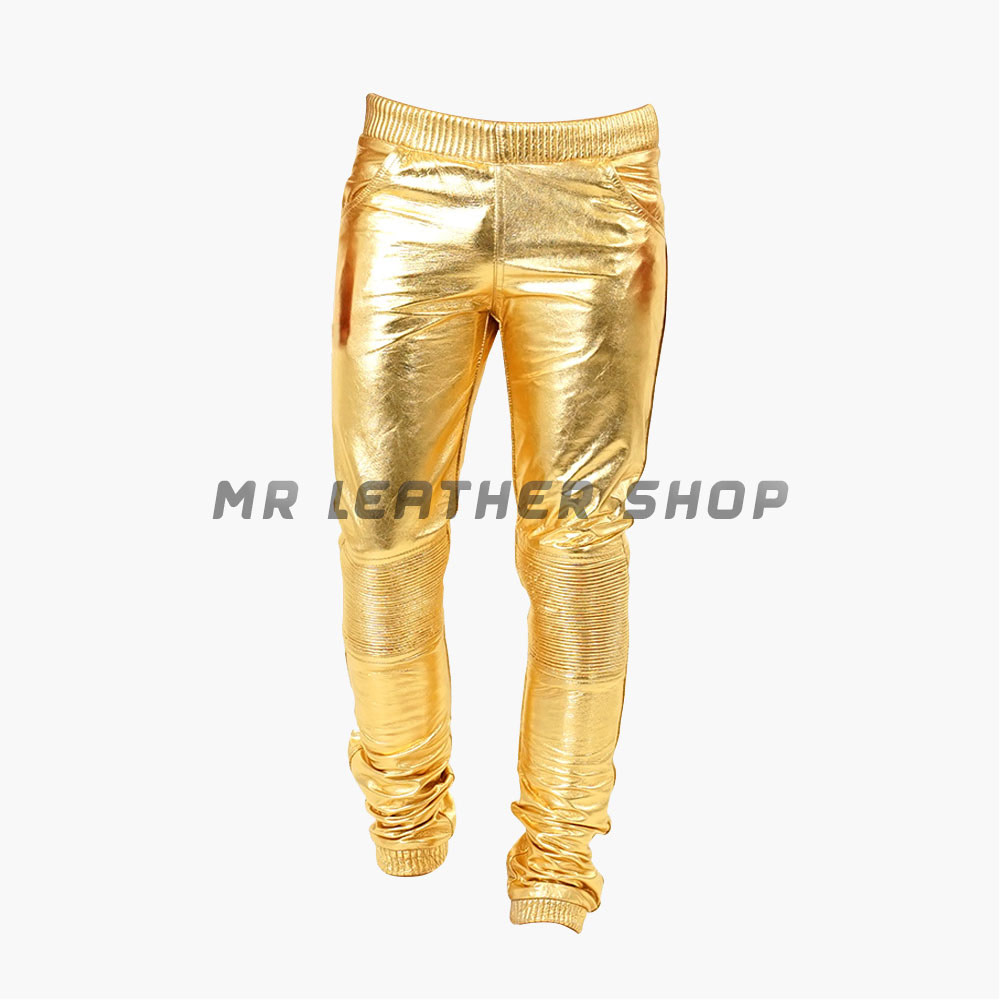 Gold Leather Pants