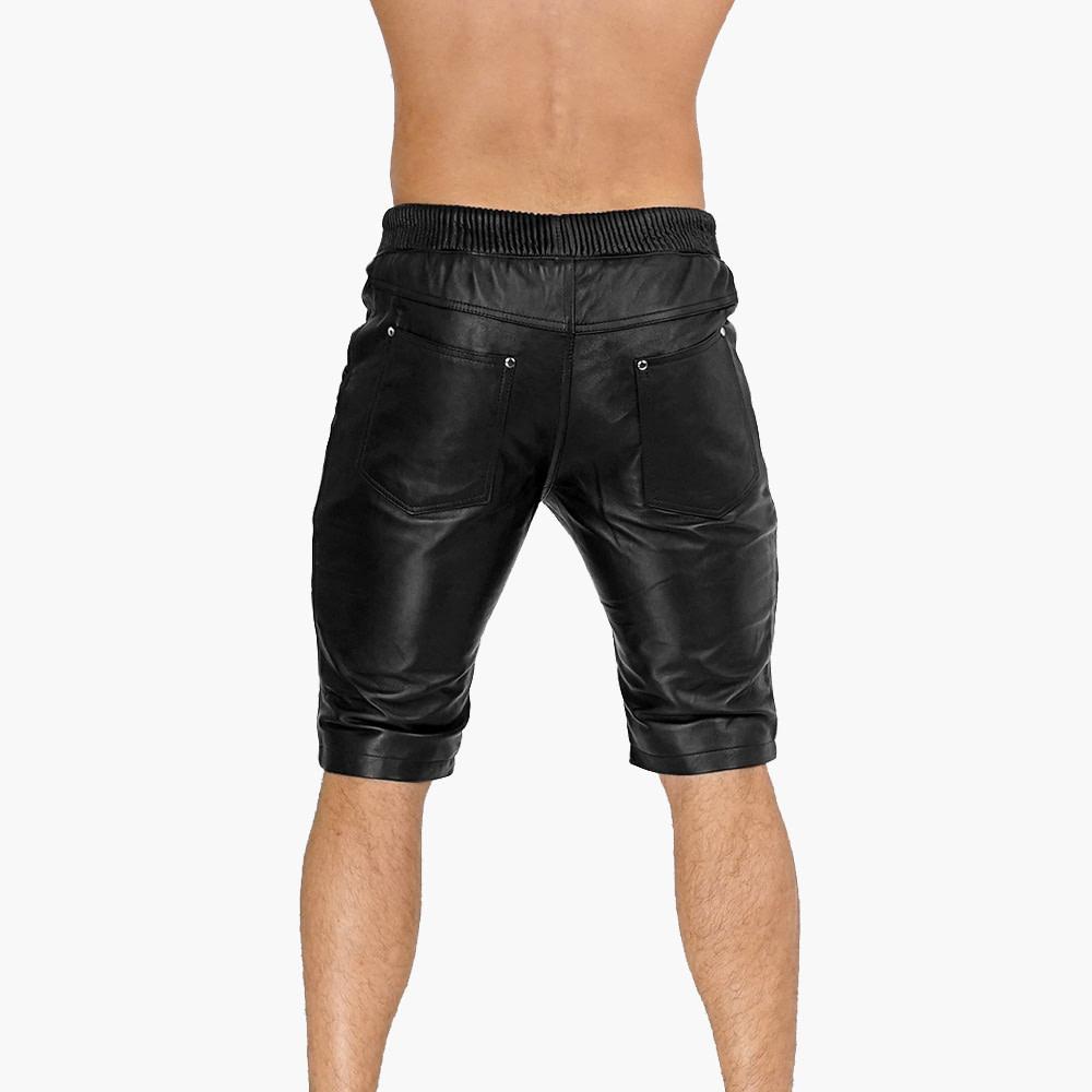 Mens-Black-leather-Shorts-v1