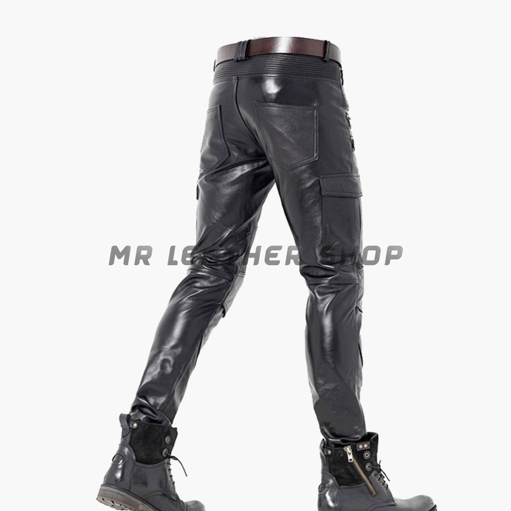 Tight Black Leather Pants 01