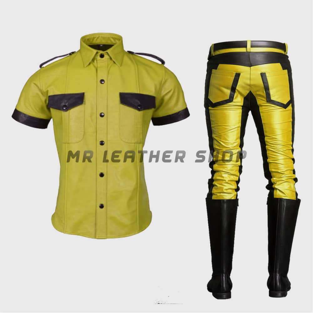 Police Leather Uniform
