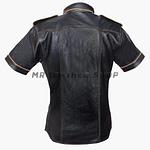 Black Leather Shirt Mens