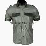 Mens Lambskin Leather Shirt