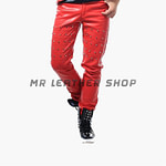 Red Leather Pants Mens