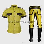 Yellow Leather Uniform