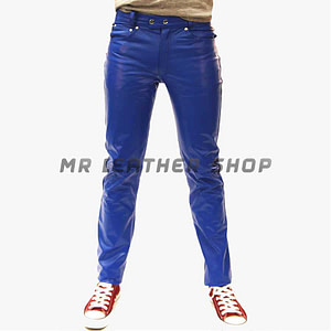 Mens Leather Jeans