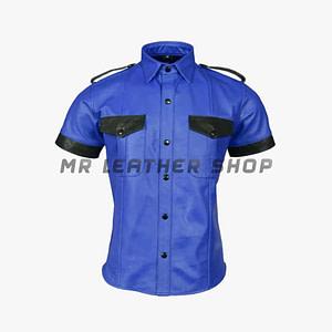 Short Sleeve Leather Shirts