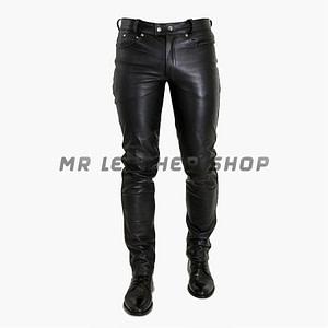 Black Leather Jeans