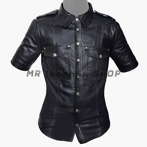 Black Leather Shirts