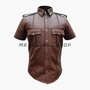 Crocodile Leather Shirts Brown