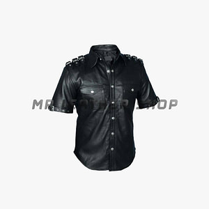 Leather Motorcycle Shirt