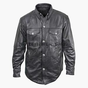 Long Sleeve Leather Shirt