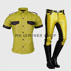 Yellow Leather Uniform