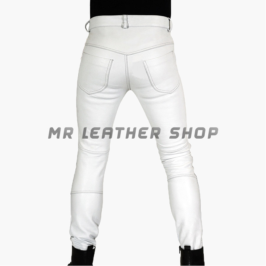 White Leather Pants