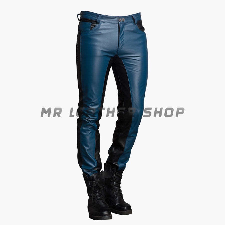 custom Leather Jeans Mens Leather Pants
